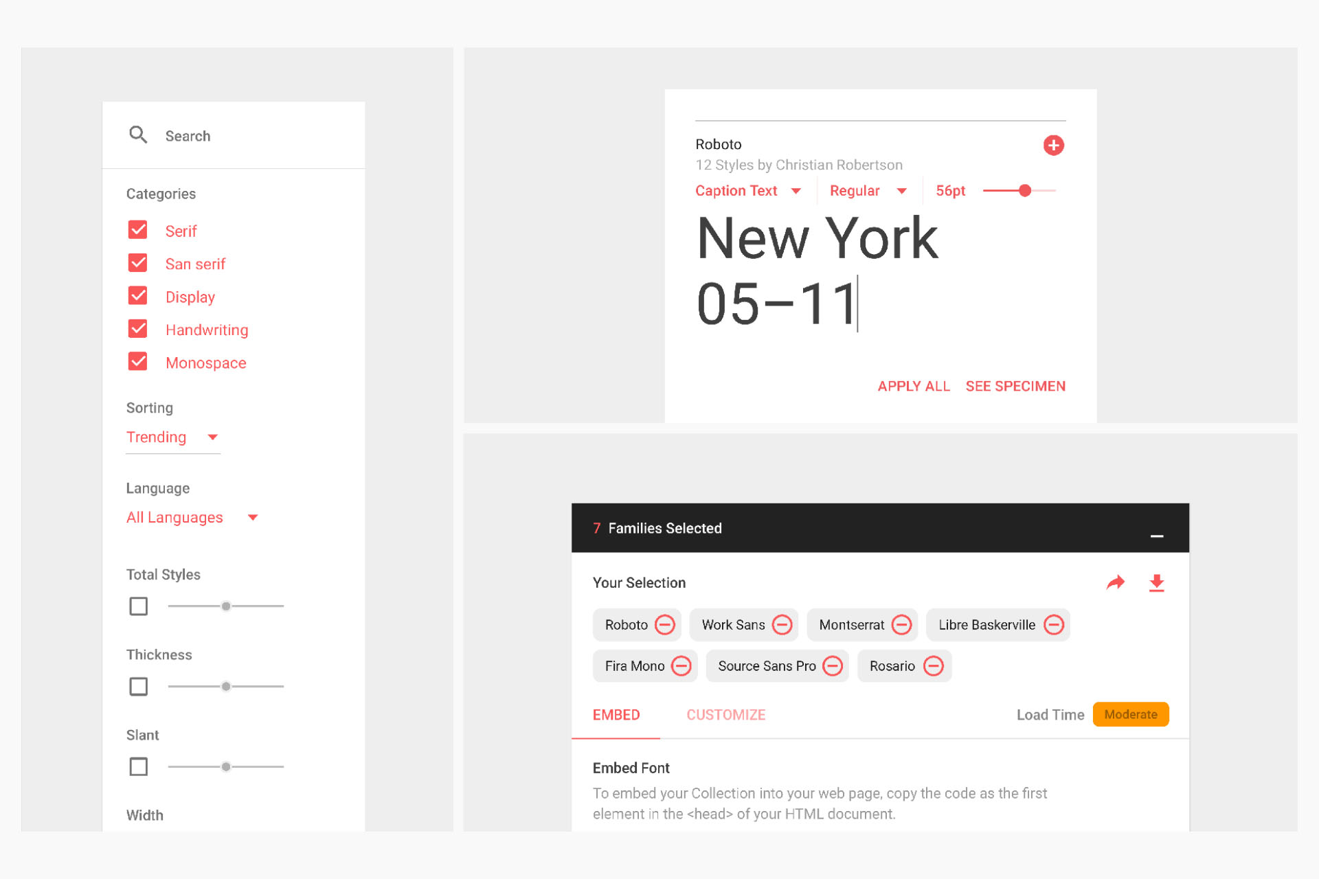 Google Fonts - UI