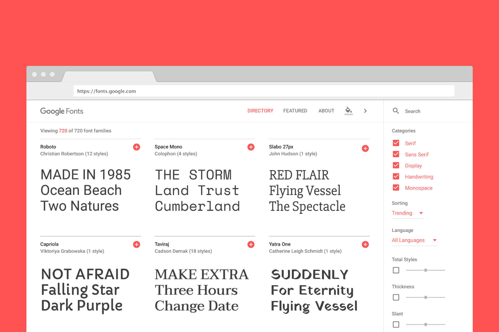 Redesign do Google Fonts